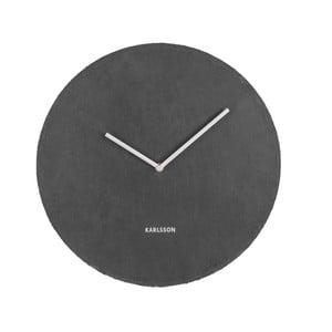 Černé nástěnné hodiny Karlsson Slate, ⌀40 cm