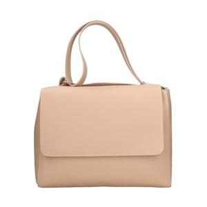 Pudrově růžová kožená kabelka Roberto Buono Barbara