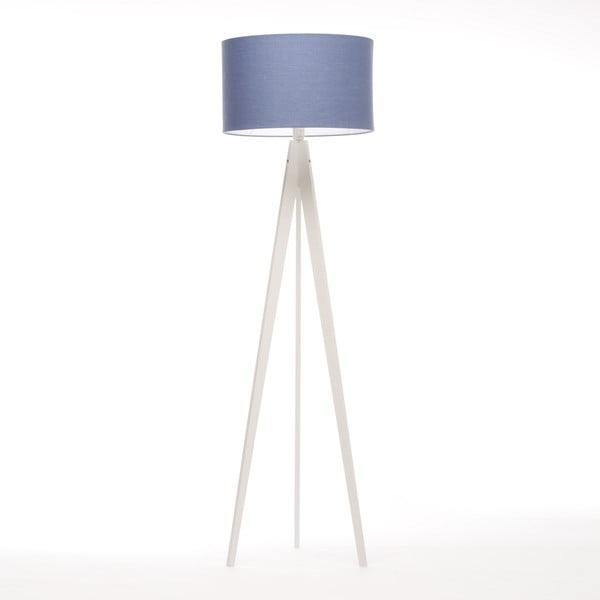 Stojací lampa Artist Dark Blue Linnen/White Birch, 125x42 cm