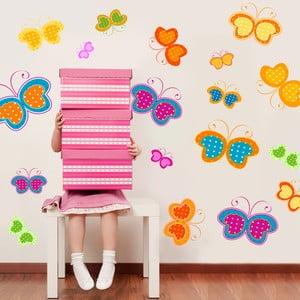 Samolepka na stěnu Motýlci, 90x120 cm