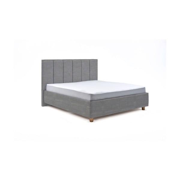 Svetlomodrá dvojlôžková posteľ s roštom a úložným priestorom PreSpánok Wega, 180 x 200 cm