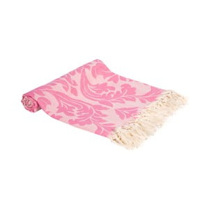 Růžová ručně tkaná osuška Ivy's Nesrin, 100x180cm
