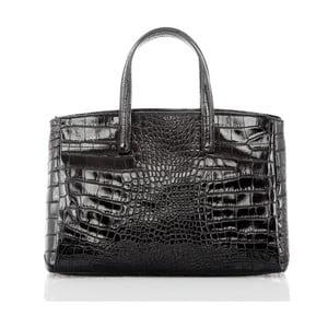 Černá kožená kabelka Glorious Black Nathalia