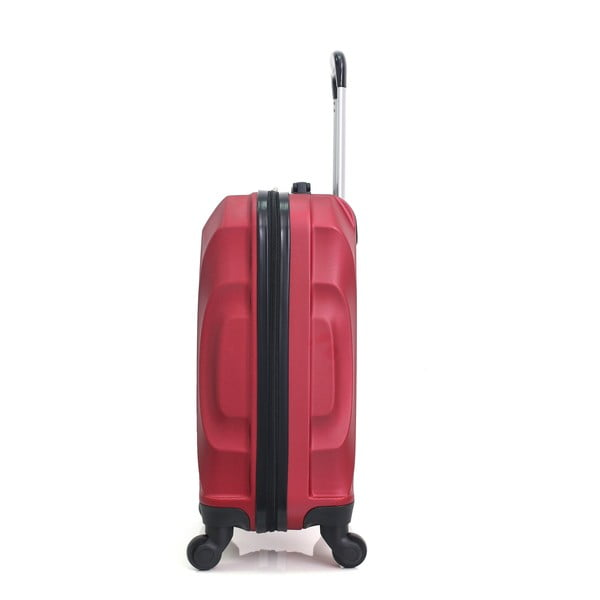 Červený cestovní kufr na kolečkách Hero Moscou-e,30l