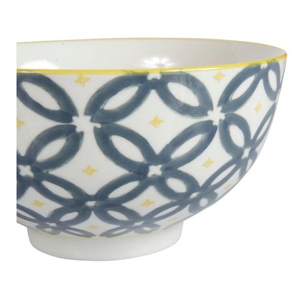 Sada 4 porcelánových misek Flower, 15 cm