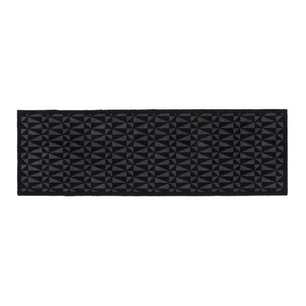 Čierno-sivá rohožka Tica copenhagen Graphic, 67×200 cm