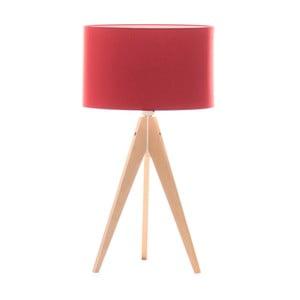 Stolní lampa Artist Red/Birch, 40x33 cm