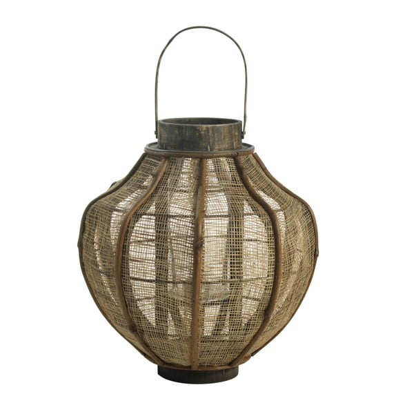 Lucerna z bambusu, 50x30 cm