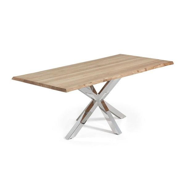 Jídelní stůl s kovovým podnožím La Forma Arya Natural,délka220cm