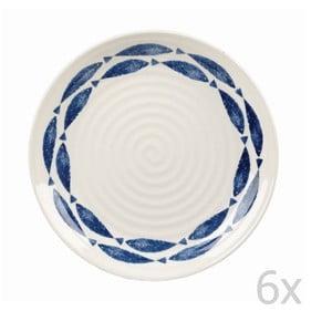 Sada 6 ks talířů Fishie White, 22 cm