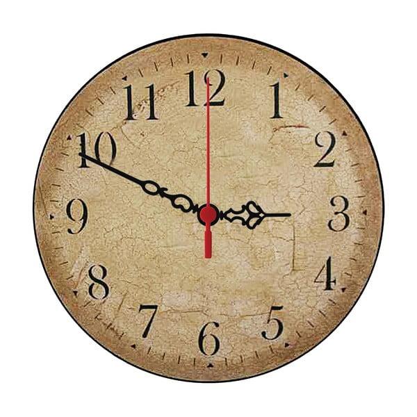 Nástěnné hodiny Beige Times, 30 cm