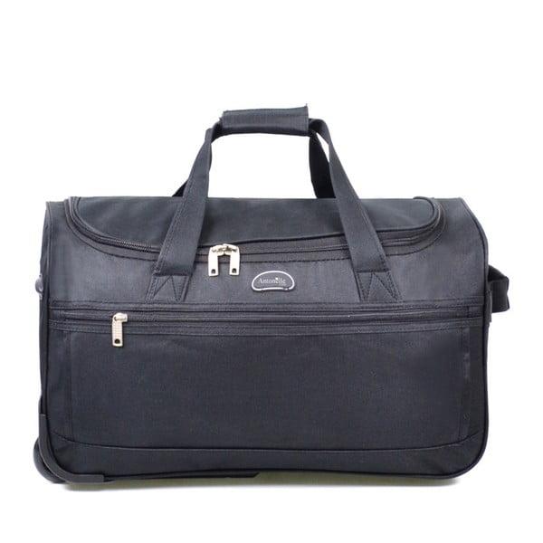 Černá cestovní taška na kolečkách Hero,83l
