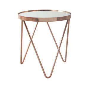 Odkládací stolek v růžovozlaté barvě 360 Living Julia, ⌀ 42 cm