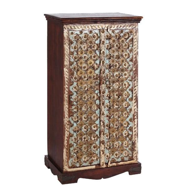 Skříň Golden Brown/White, 66x40x127 cm
