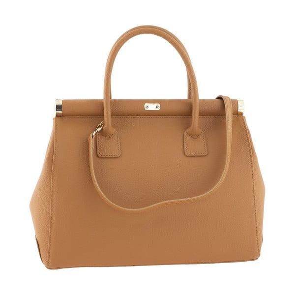 Kožená kabelka Italian Elegance, světle hnědá