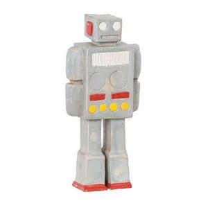Dřevená dekorativní figurka Vox robot