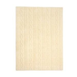 Žlutý bavlněný ručně vyráběný koberec Lorena Canals Braids, 80x120cm