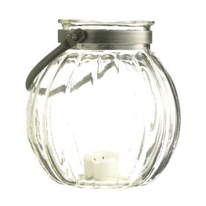 Set dvou skleněných luceren, wavy
