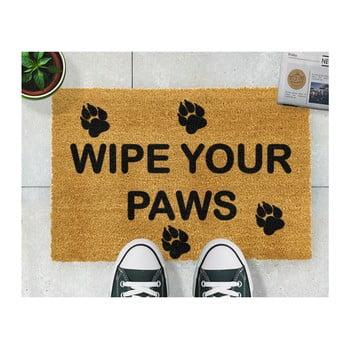 Covoraș intrare din fibre de cocos Artsy Doormats Wipe Your Paws, 40 x 60 cm de la Artsy Doormats