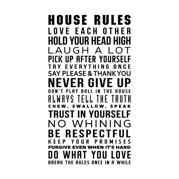 Samolepka Ambiance House Rule