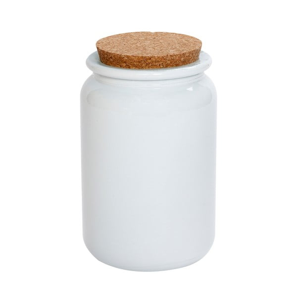 Set dóz z recyklovaného skla, malý, bílý