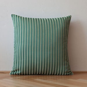 Polštář s výplní Dark Green Stripes, 50x50 cm