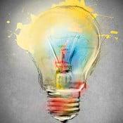 Tablou Bulb, 60x60 cm