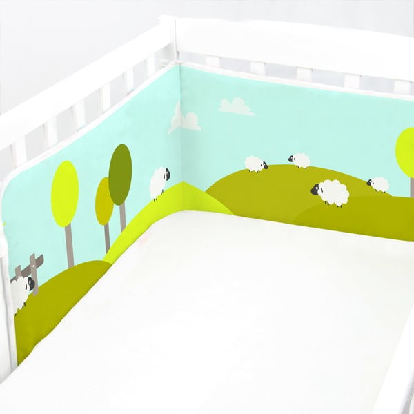 Výstelka do postýlky Little Sheep, 60x60x60 cm
