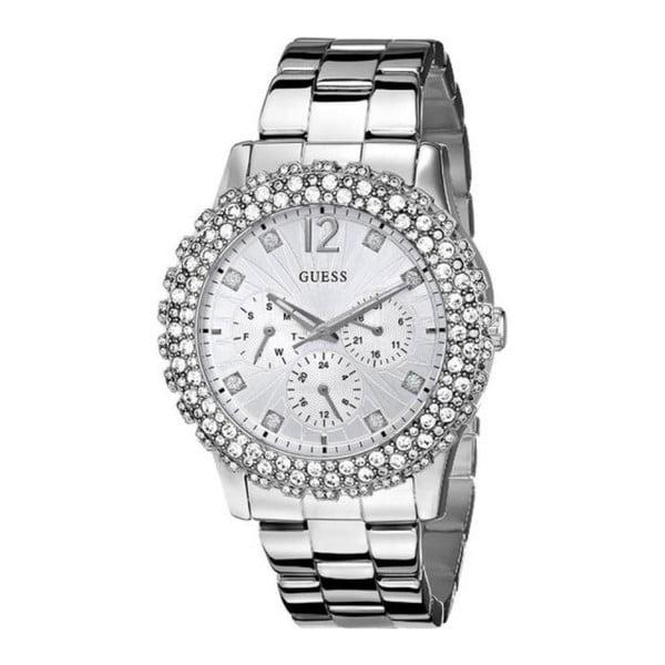 Dámske hodinky v striebornej farbe s antikoro remienkom Guess W0335L1