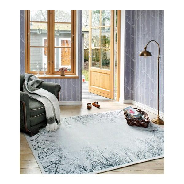 Šedý vzorovaný oboustranný koberec Narma Puise, 140x200cm