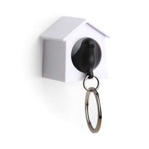 Věšák na klíče vrabčák v budce MINI, černá
