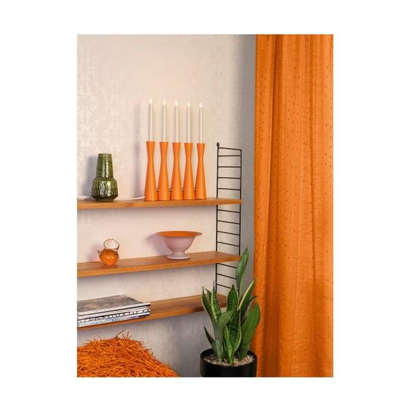 Oranžový LED svícen Midja