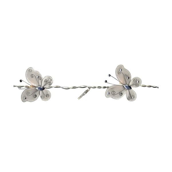 Světelný řetěz Butterflies 120 cm, bílý