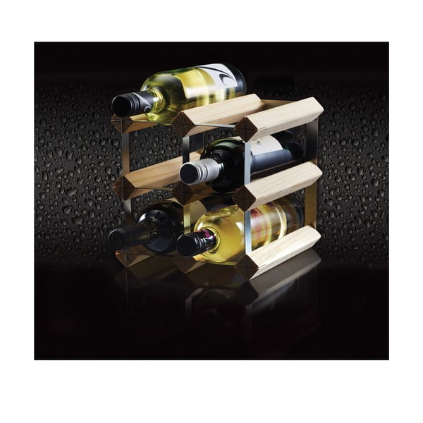 Dřevěný stojan na 6 lahví z borovicového dřeva Kitchen Craft Bar Craft