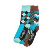 Sada 3 párů unisex ponožek Funky Steps Maiki, velikost39/45