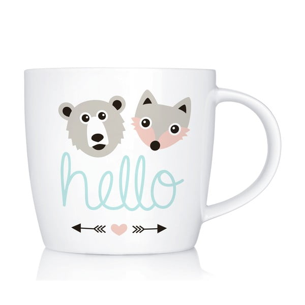 Porcelánový hrnek We Love Home Hello, 300 ml