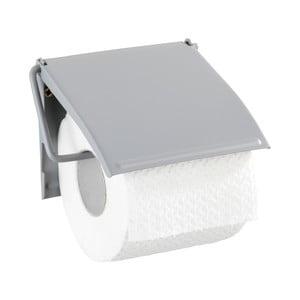 Šedý nástěnný držák na toaletní papír Wenko Cover