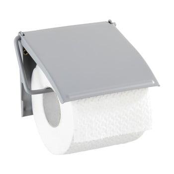 Suport de perete pentru hârtie toaletă Wenko Cover, gri de la Wenko