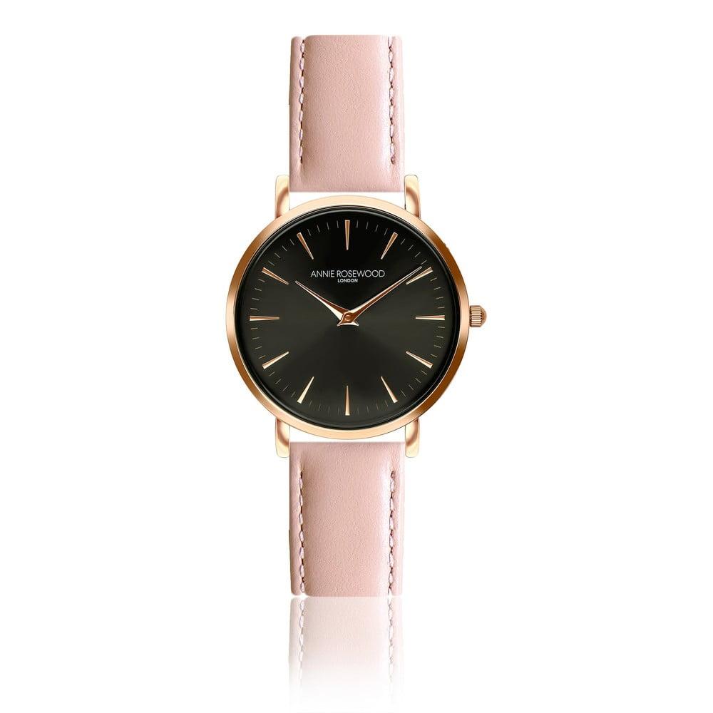Dámské hodinky srůžovým koženým páskem Annie Rosewood Agi