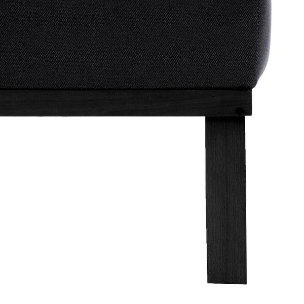 Tmavě šedá dvoumístná pohovka Vivonita Jonan, černé  nohy