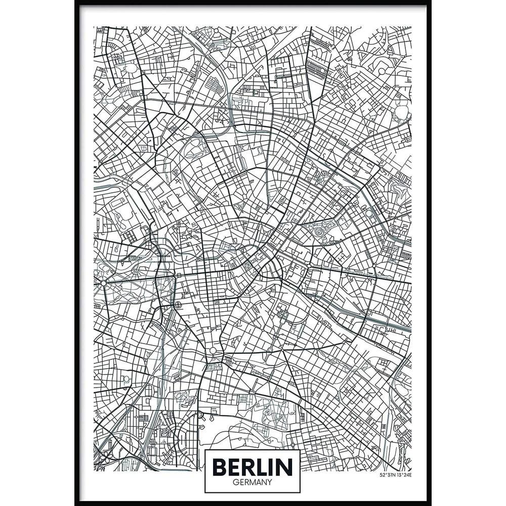 Nástěnný obraz MAP/BERLIN, 40x50cm