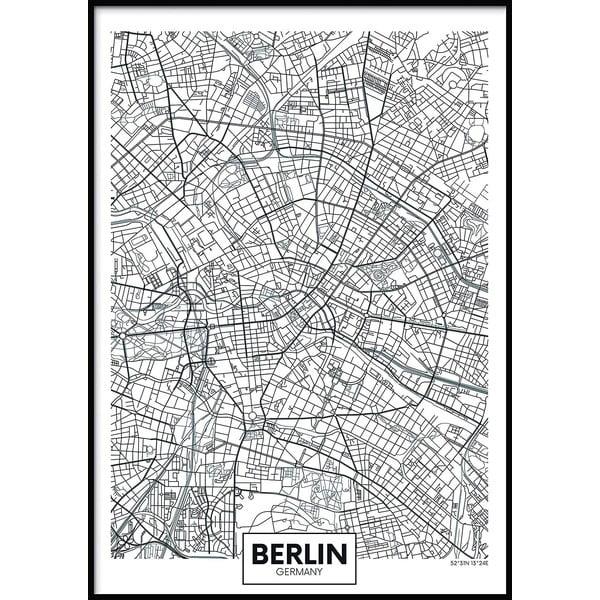 Nástěnný obraz MAP/BERLIN, 50x70cm