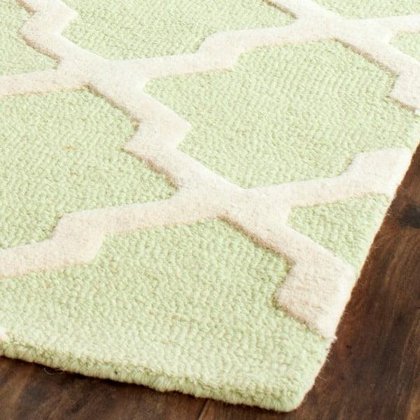 Ručně vyšívaný koberec Safavieh Ava Light Green, 152 x 243 cm