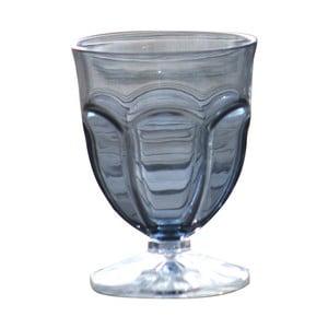 Sada 6 šedých plastových sklenic na vodu Sunvibes Happy, 250 ml