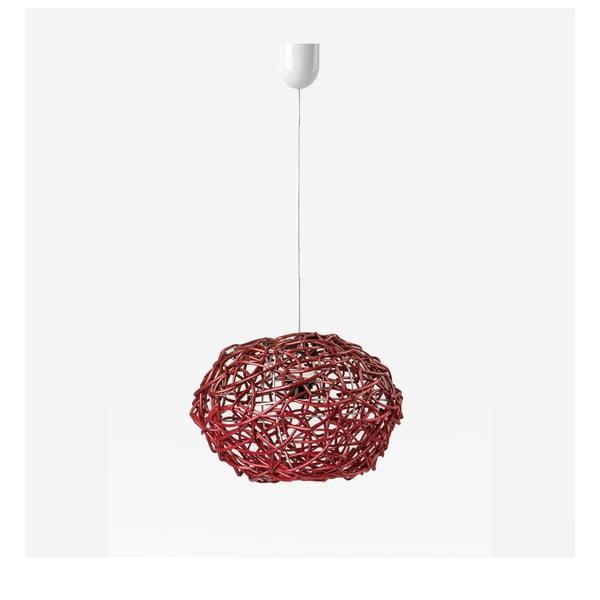 Stropní světlo Kula, 32x25 cm, červené
