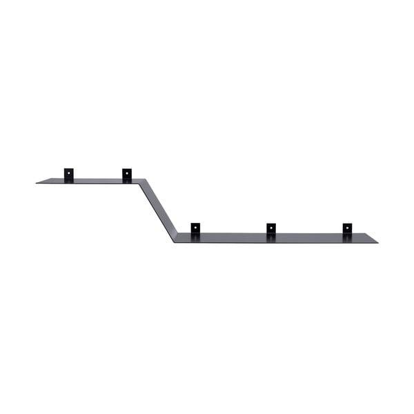 Nástěnná kovová police Gie El 100 cm, černá