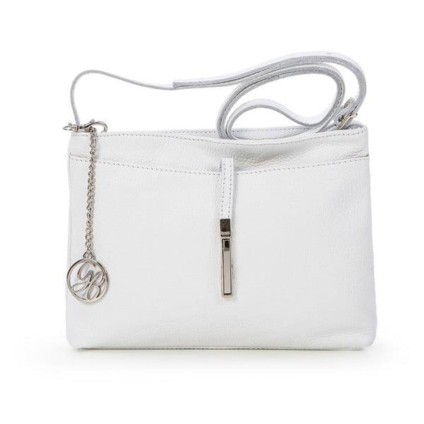 Kožená kabelka Francesco, bílá