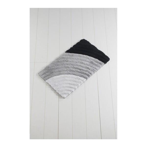 Szary dywanik łazienkowy Yaprak Well, 60x100 cm