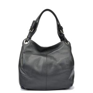 Černá kožená kabelka Carla Ferreri Ofelie