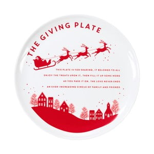 Vánoční talíř Talking tables Botanical Santa,⌀28cm